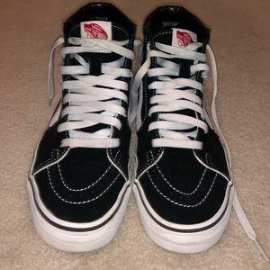 Black Vans Sk8 Hi